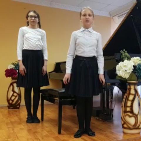 """Фортепианный дуэт """"КонцертиноNext"""" Курочкина Ксения, Субботина Екатерина"""